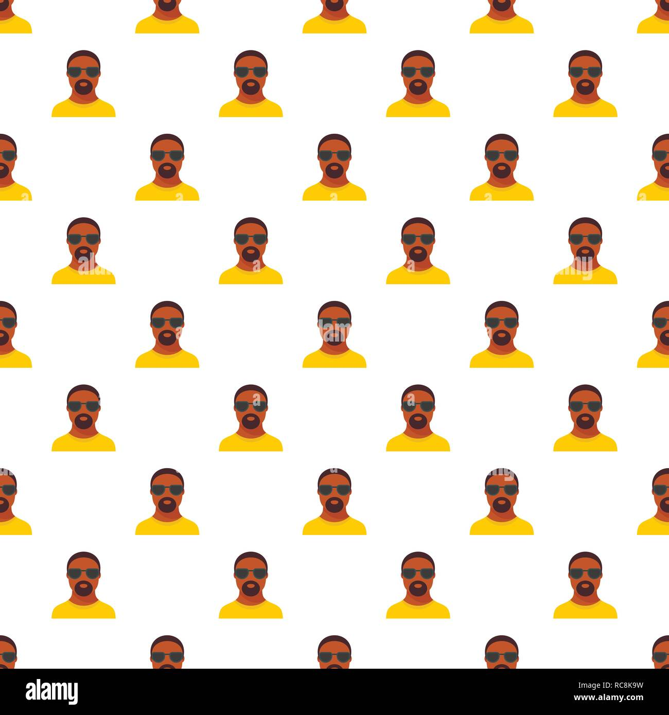 Hip hop man pattern seamless vector repeat for any web design Stock Vector