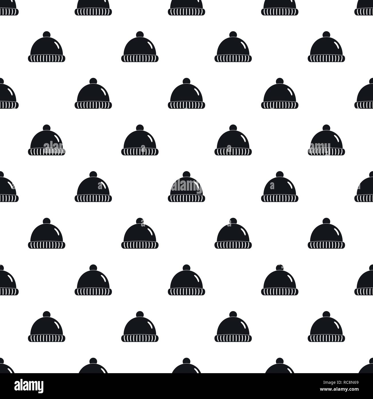 d4f4b8a8a1f Winter hat pattern seamless vector repeat geometric for any web design -  Stock Image