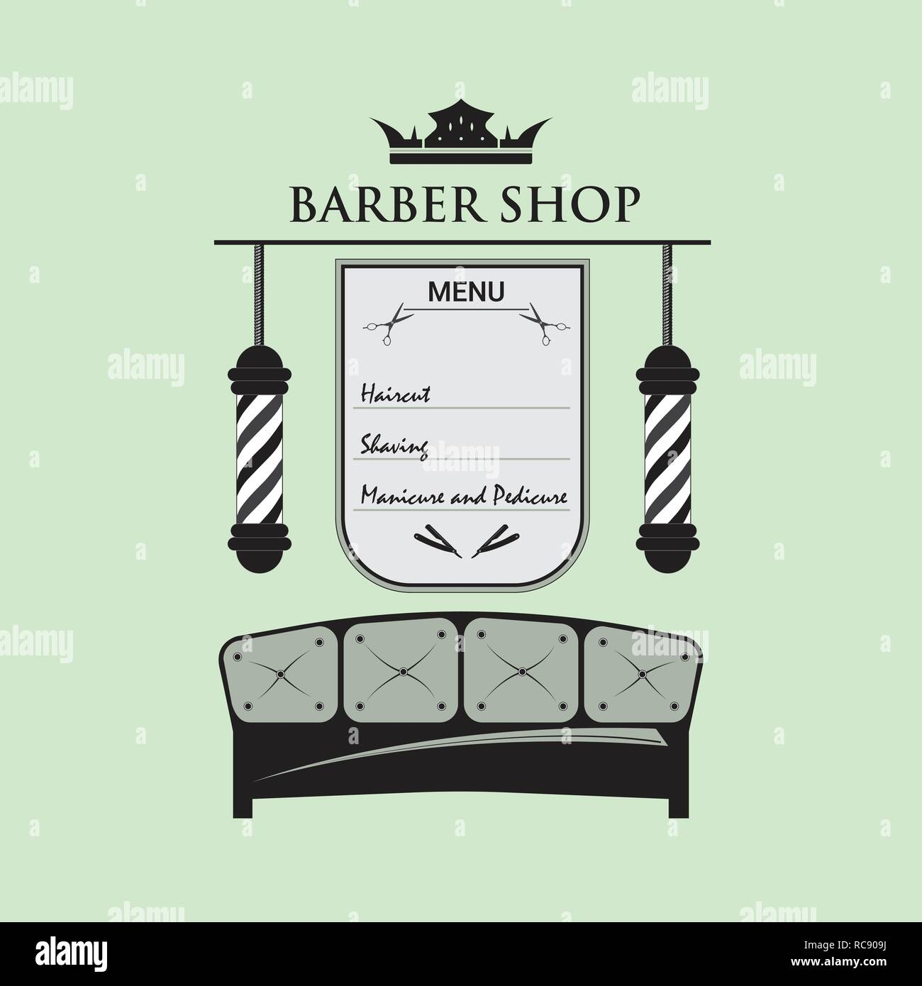Barbershop Male Salon Stock Vector Art \u0026 Illustration