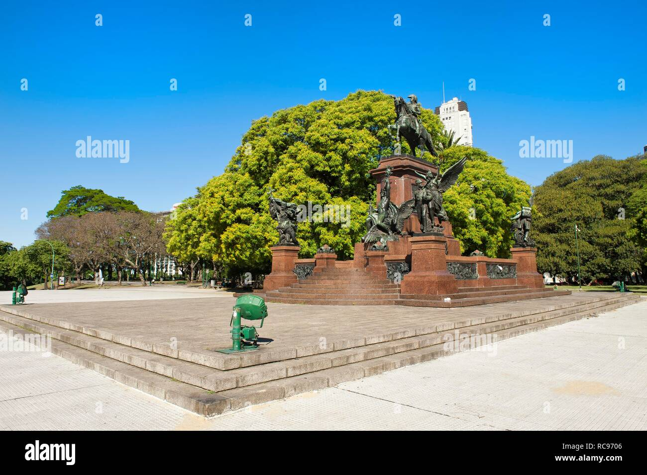 General San Martin Monument, Plaza General San Martin, Buenos Aires, Argentina, South America - Stock Image