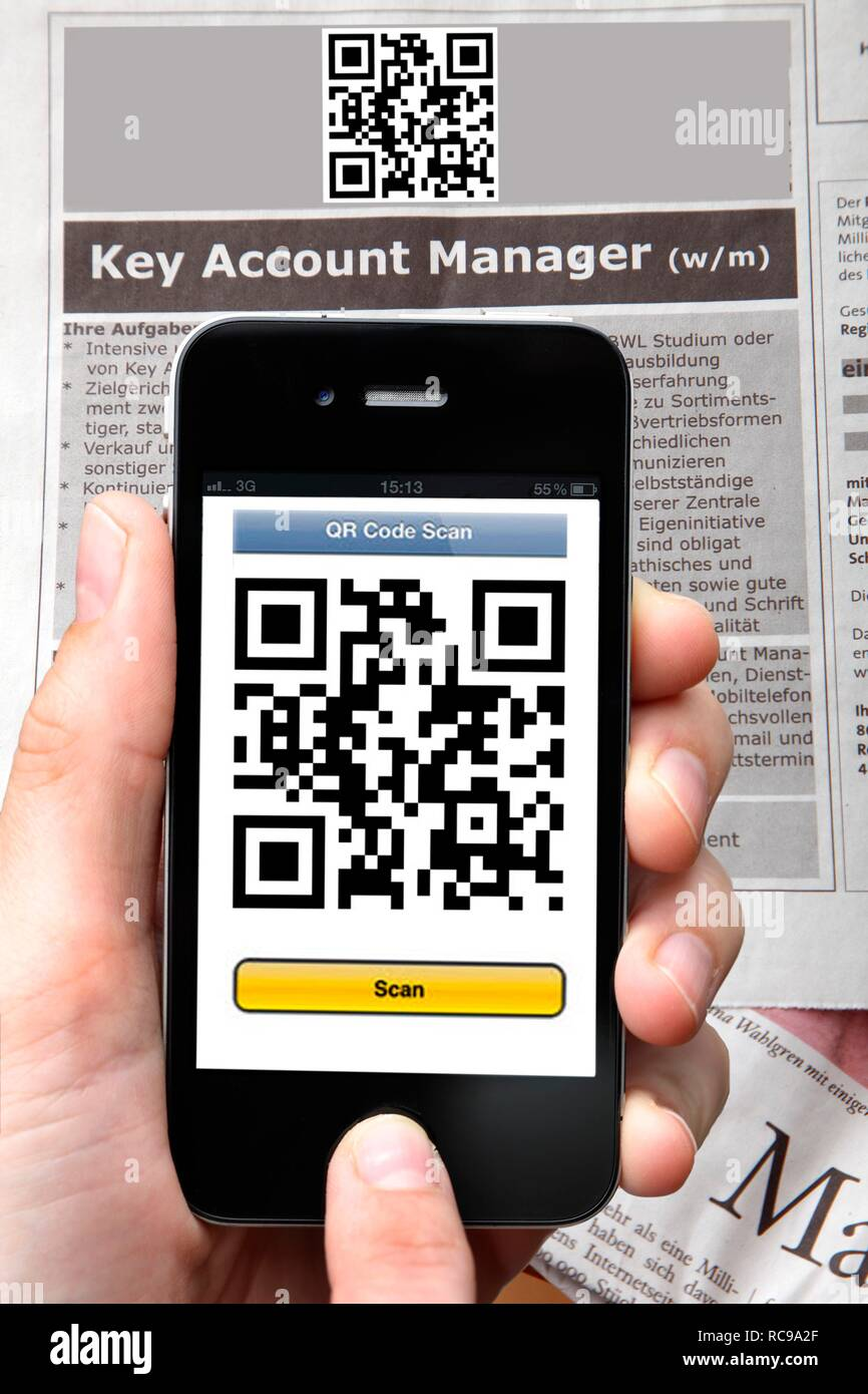 QR-code reader, Quick Response Code, reading a QR code with