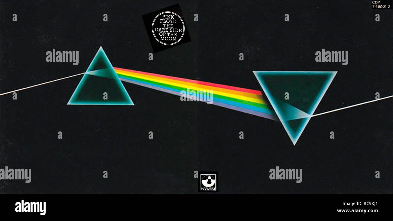 Prod DB © Pink Floyd - Harvest, EMI / DR THE DARK SIDE OF THE MOON album de Pink Floyd 1973 GB pochette de l'album Progressive rock; Rock progressif - Stock Image