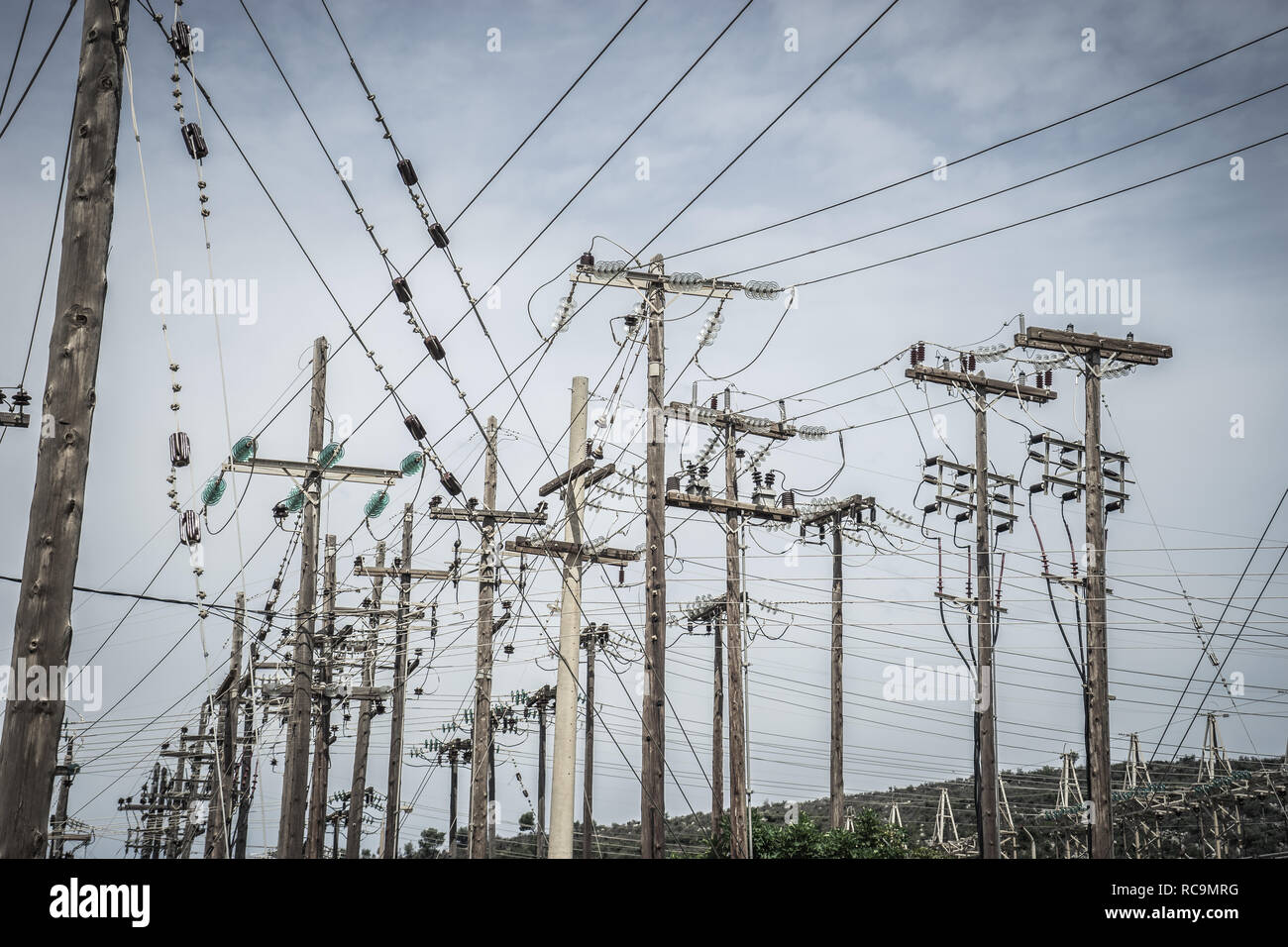 Electric Power tower - Stock Image