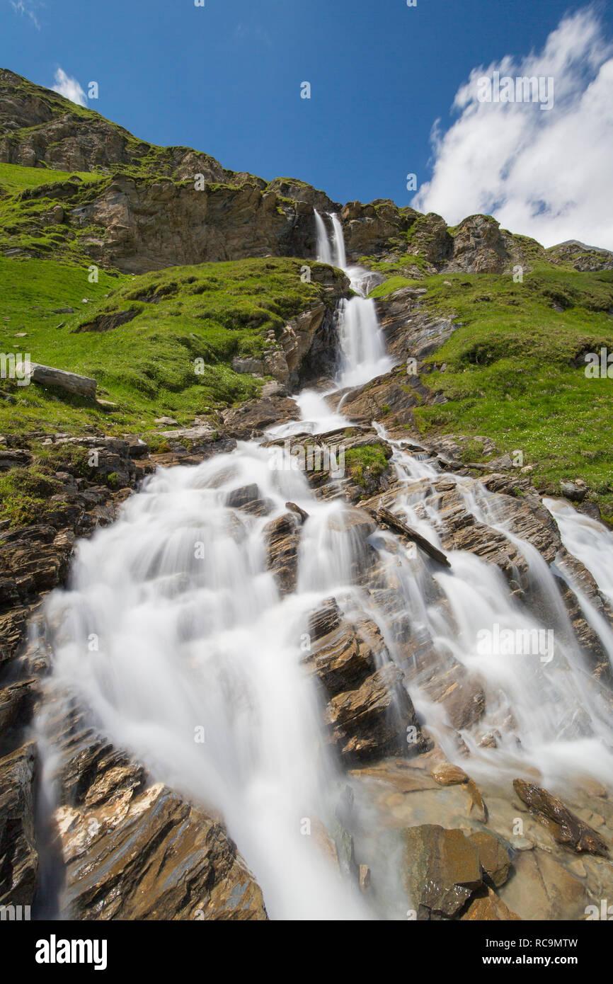 Nassfeld waterfall in the Hohe Tauern National Park, Carinthia / Kärnten, Austria Stock Photo