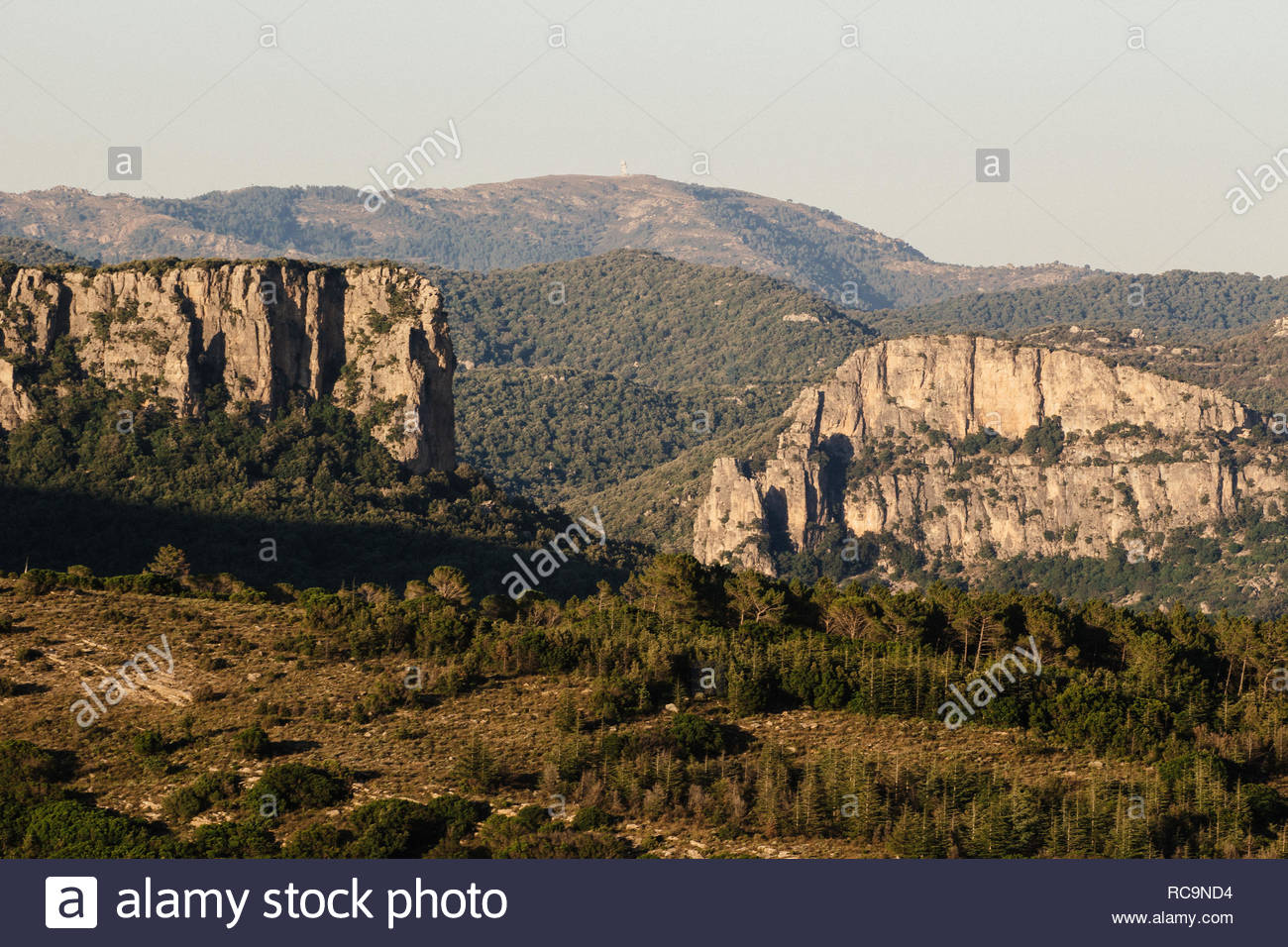 Seuil, a little village aside of the wild Sardinian mountain where typical farmer and shepherd are living a non-urban life, with an 'old' life-style. - Stock Image