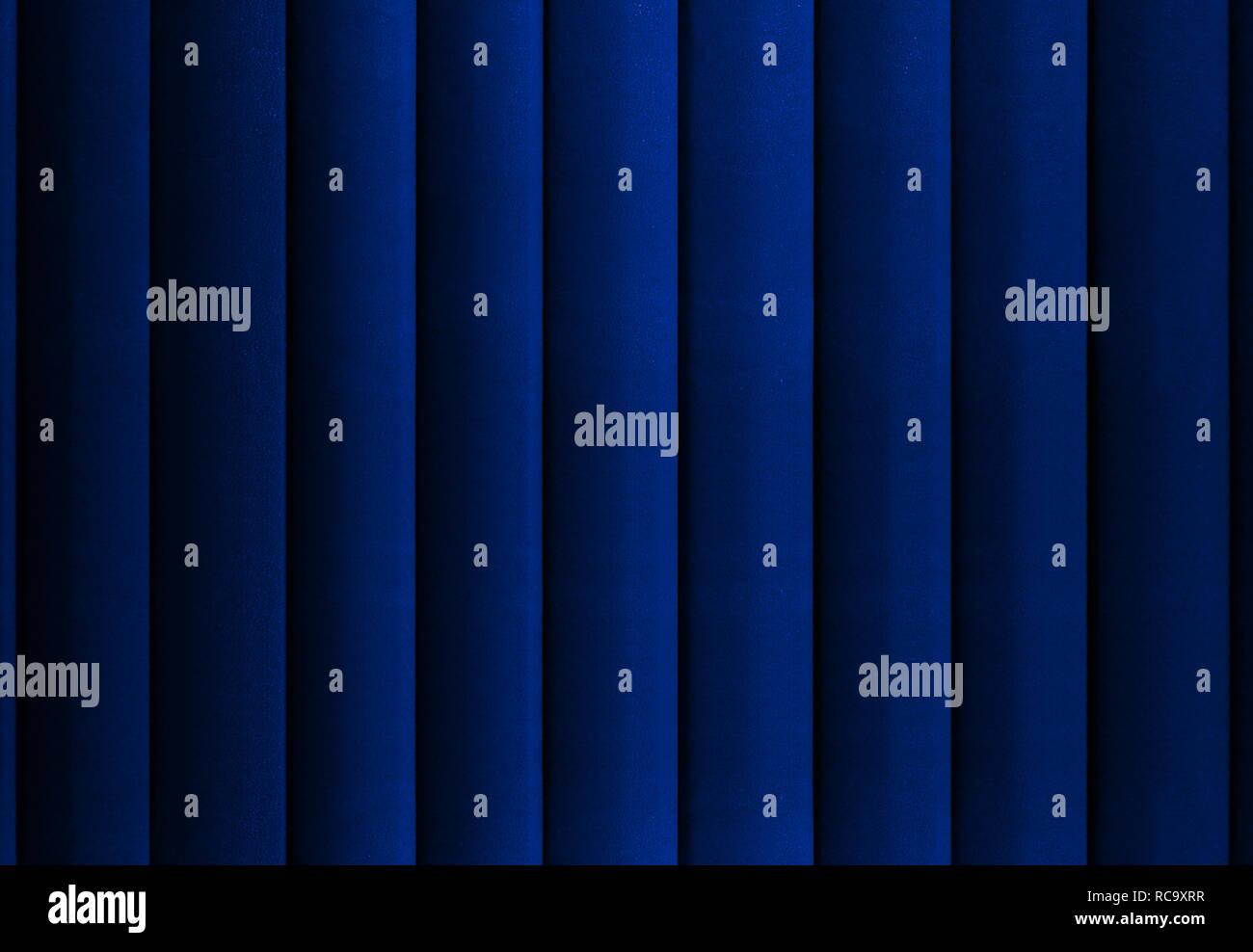 Blue curtain background - Stock Image