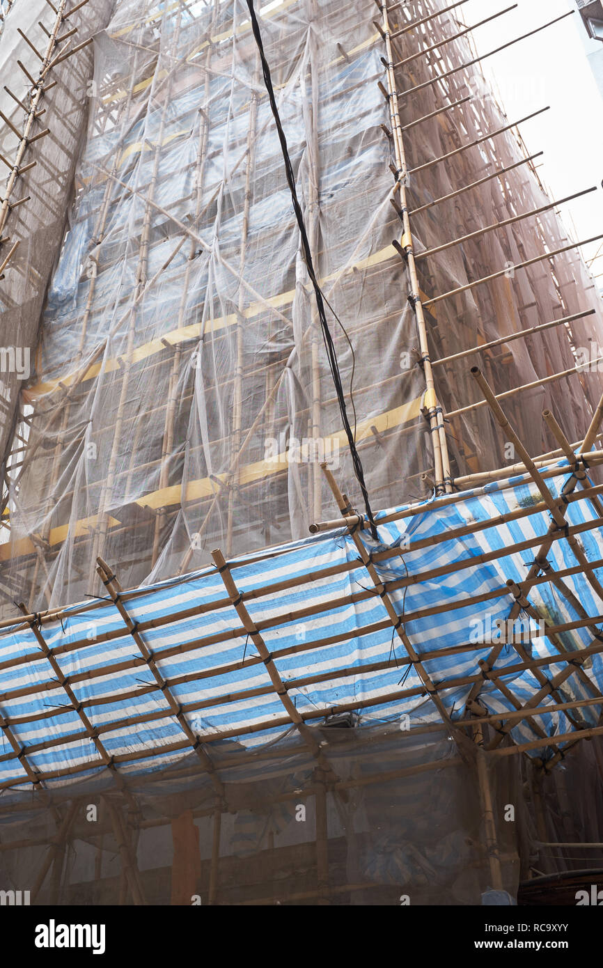 Bamboo Scaffolding - Stock Image