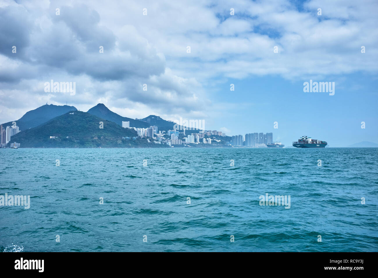 Victoria Harbor, Hong Kong - Stock Image