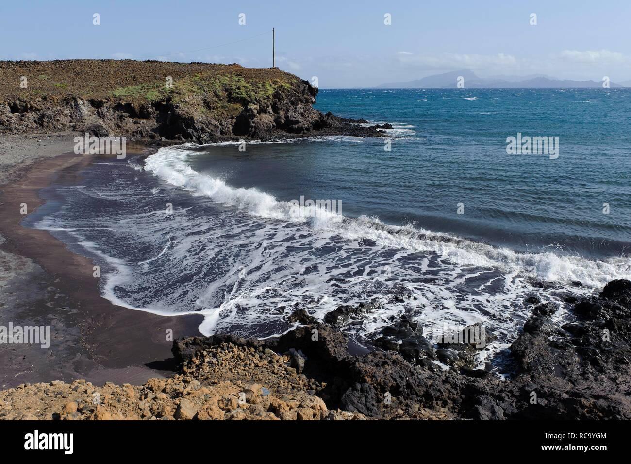 Curraletes beach at Porto Novo, Santo Antao, Cape Verde, Africa - Stock Image