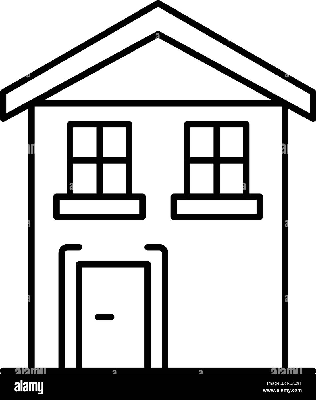 Pension house icon, outline style - Stock Image