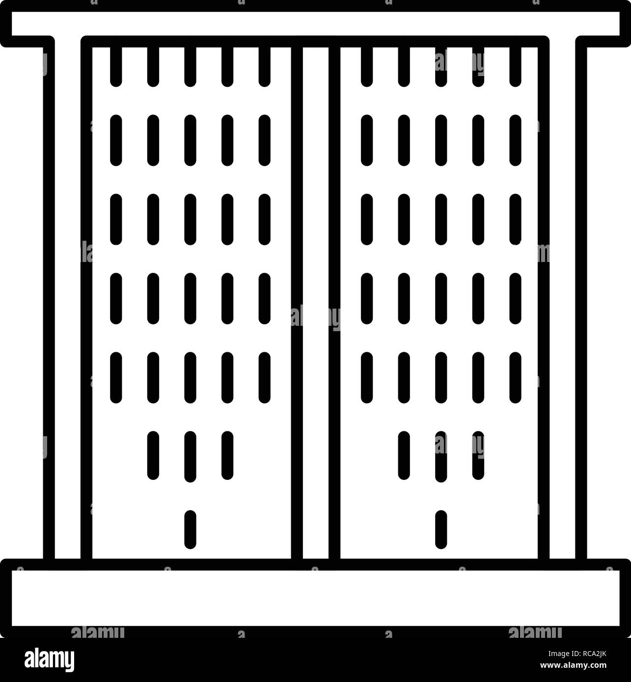 Window sunblind icon, outline style - Stock Vector