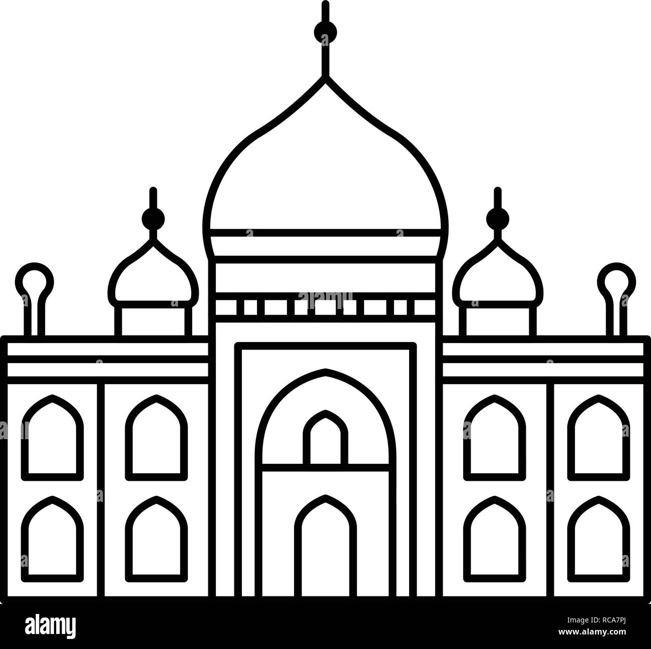Muslim temple icon outline style stock image