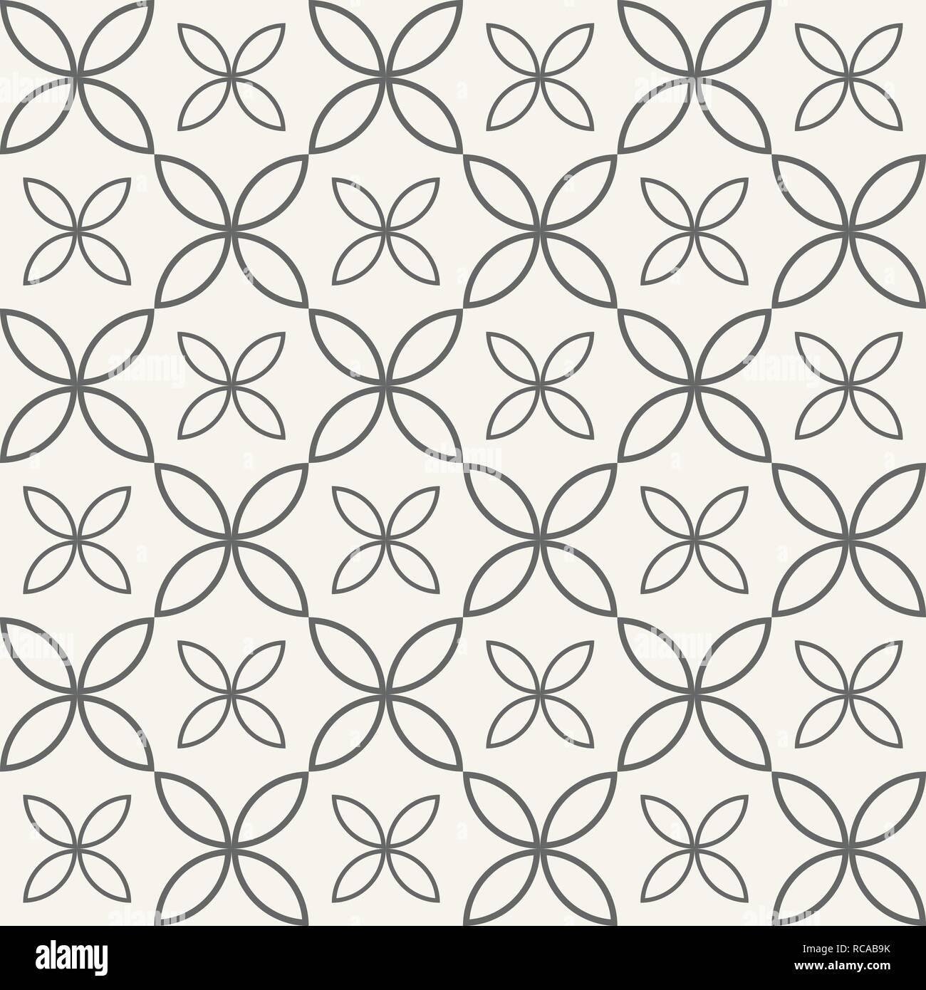 Abstract Seamless Ornamental Quatrefoil Pattern Vector Geometric