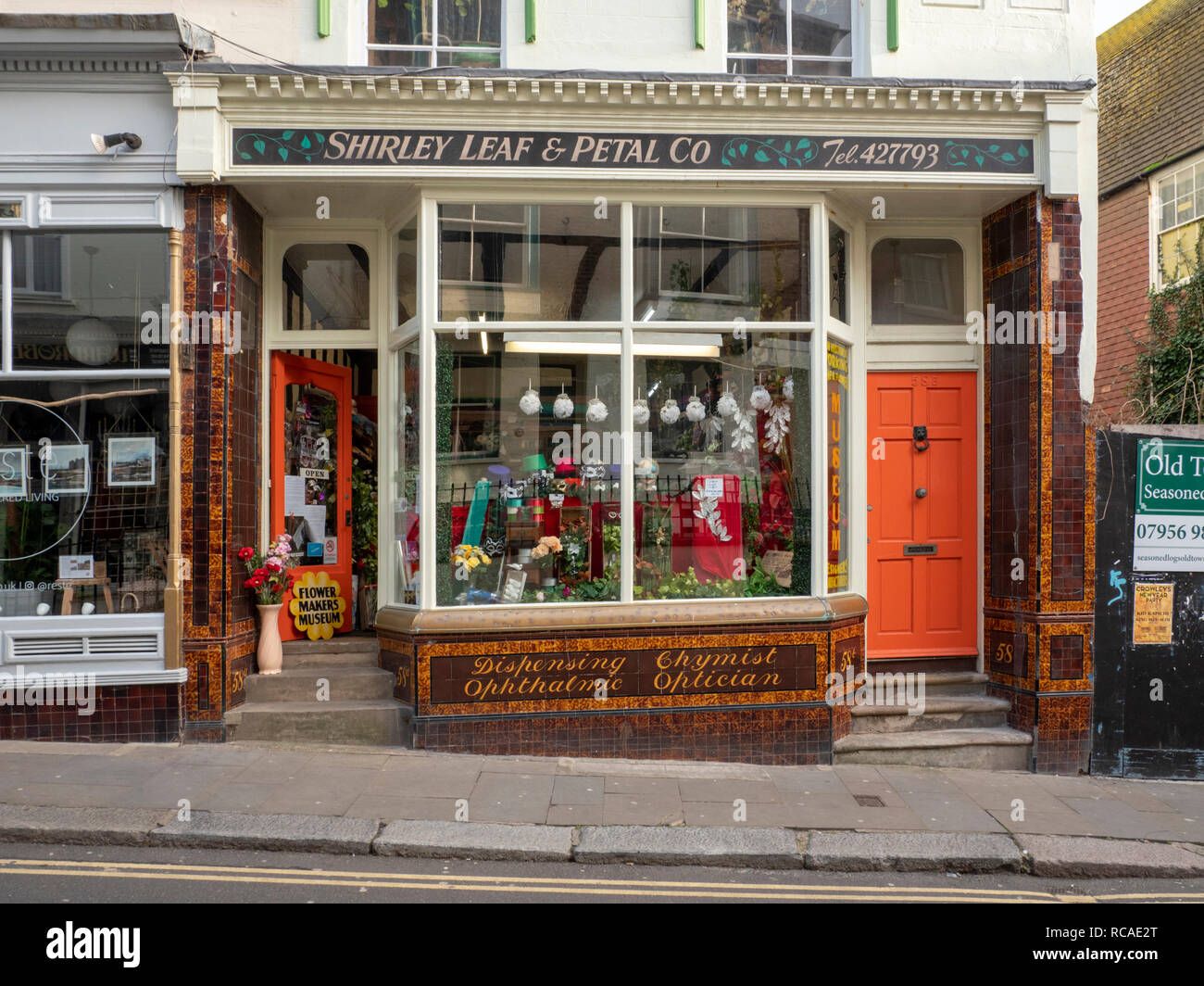 Shirley Leaf and Petal shop in Hastings Old Town East Sussex UK - Stock Image