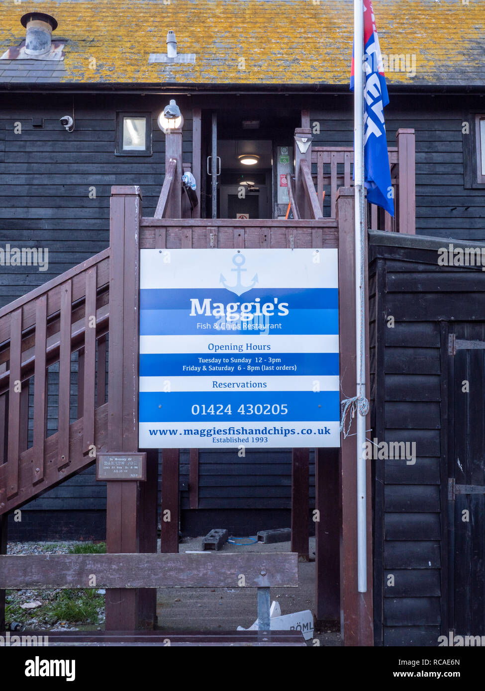 Maggie's Fish and Chip Shop Old Hastings East Sussex UK - Stock Image