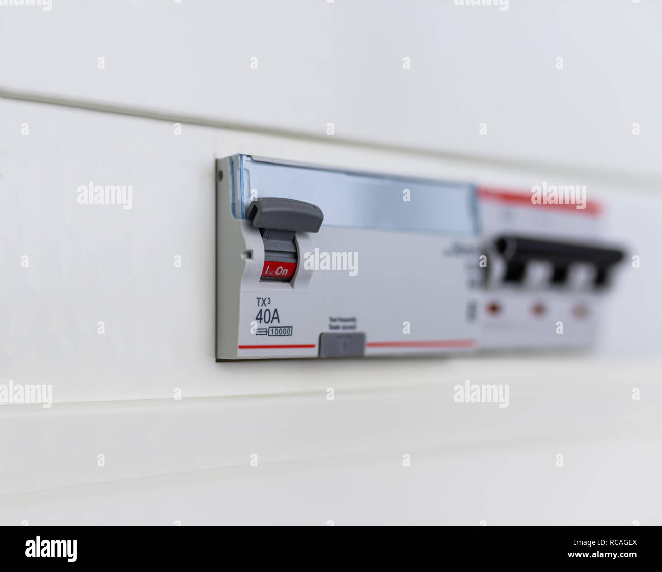 Fuse Box Circuit Breaker Stock Photos Main Automatic Breakers In A Power Control Panel Image