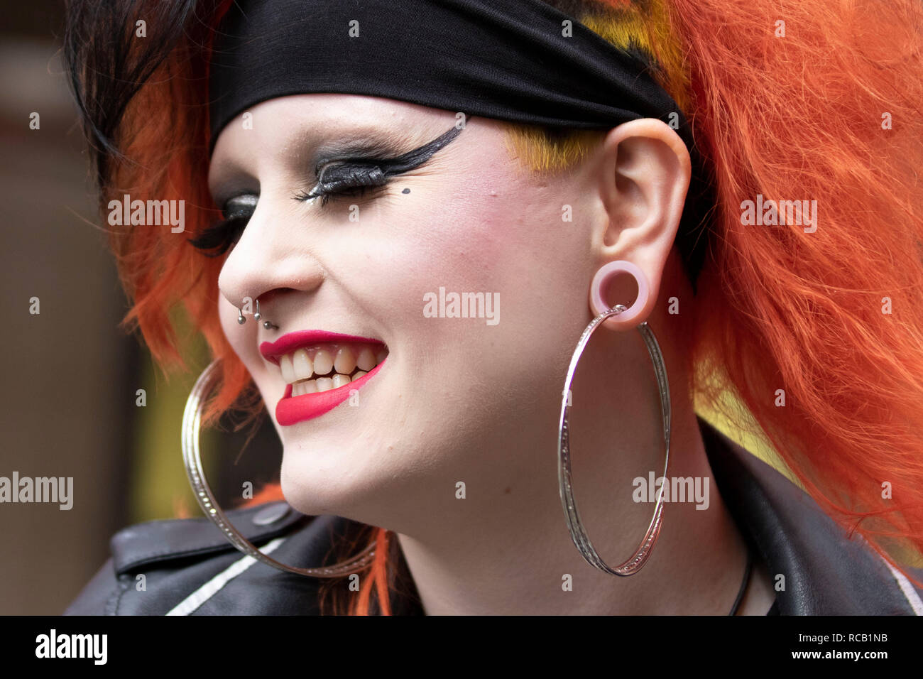 Stretched Ear Lobes Stock Photos Stretched Ear Lobes Stock Images