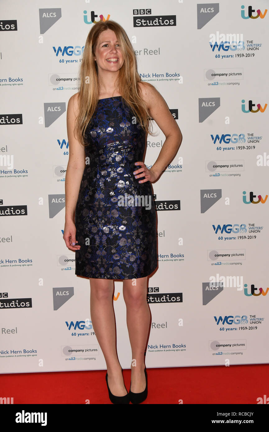 London, UK. 14th Jan, 2019. Vicki Lutas attends 2019 Writers' Guild Awards at Royal College of Physicians on 14 January 2019, London, UK Credit: Picture Capital/Alamy Live News - Stock Image