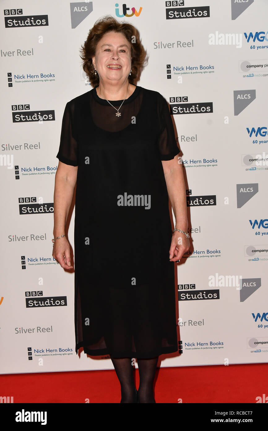 London, UK. 14th Jan, 2019. Barbara Machin attends 2019 Writers' Guild Awards at Royal College of Physicians on 14 January 2019, London, UK Credit: Picture Capital/Alamy Live News - Stock Image