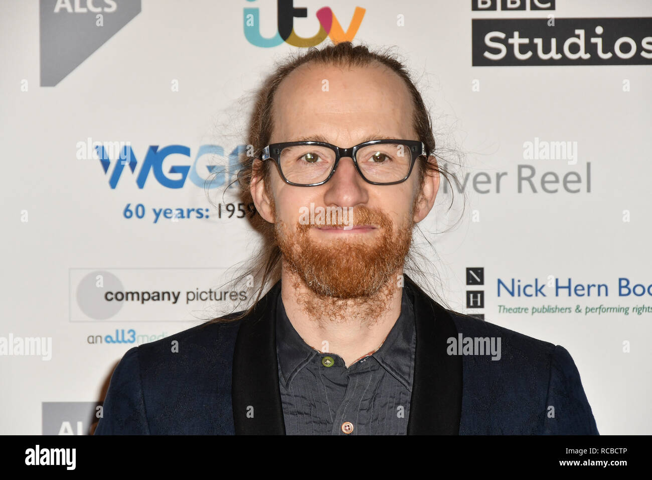 London, UK. 14th Jan, 2019. Sam Kenyon attends 2019 Writers' Guild Awards at Royal College of Physicians on 14 January 2019, London, UK Credit: Picture Capital/Alamy Live News - Stock Image