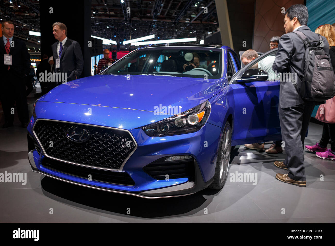 North American Auto Show 2020.Detroit Michigan Usa 14th Jan 2019 Hyundai Unveils The