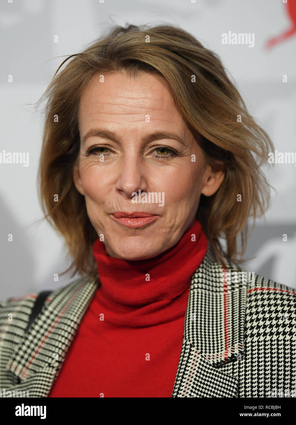 Frankfurt, Germany. 15 January 2019, Julia Jäkel, CEO of Gruner Jahr, will attend the New Year's Reception of the German Football League (DFL). Photo: Arne Dedert/dpa Credit: dpa picture alliance/Alamy Live News - Stock Image