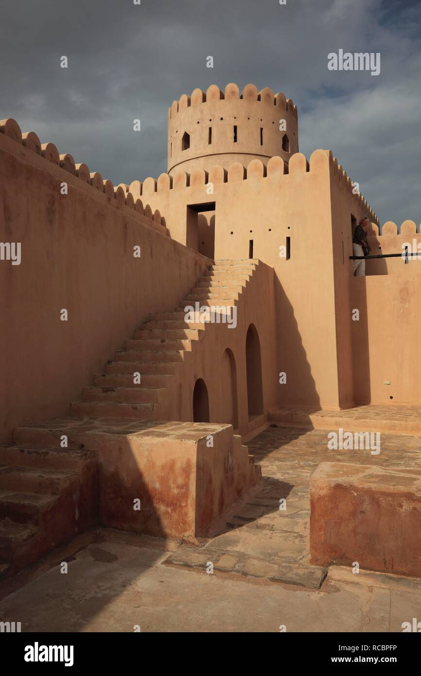 Sine Silas Fort in Sur, Oman, Arabian Peninsula, Middle East, Asia - Stock Image