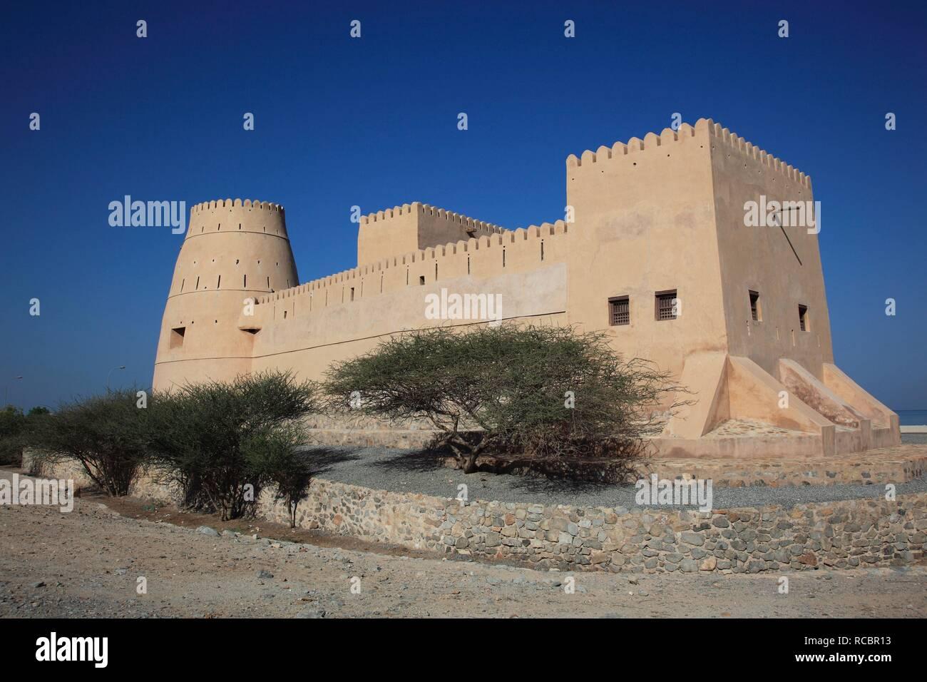 Bukha Fort, Bukha, in the Omani enclave of Musandam, Oman, Arabian Peninsula, Middle East, Asia Stock Photo