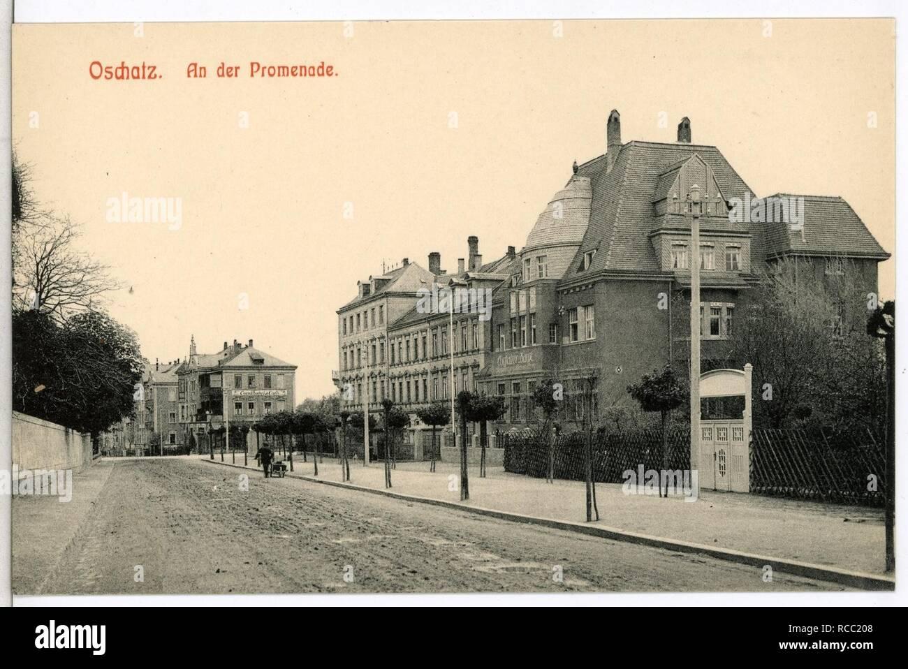 11943-Oschatz-1910-An der Promenade- Stock Photo