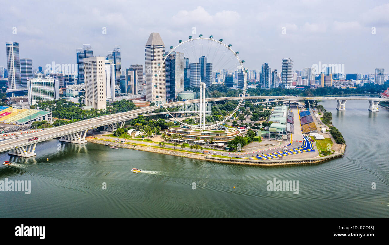 Singapore Flyer, Ferris Wheel, Singapore - Stock Image