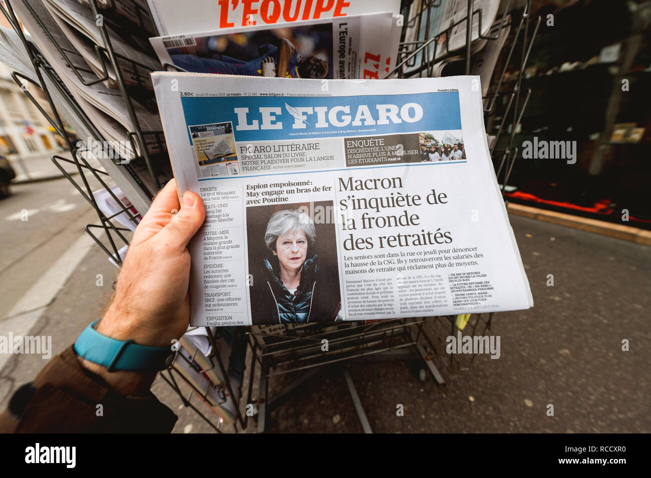 Tabloid Newspaper Cover Page Stock Photos Tabloid