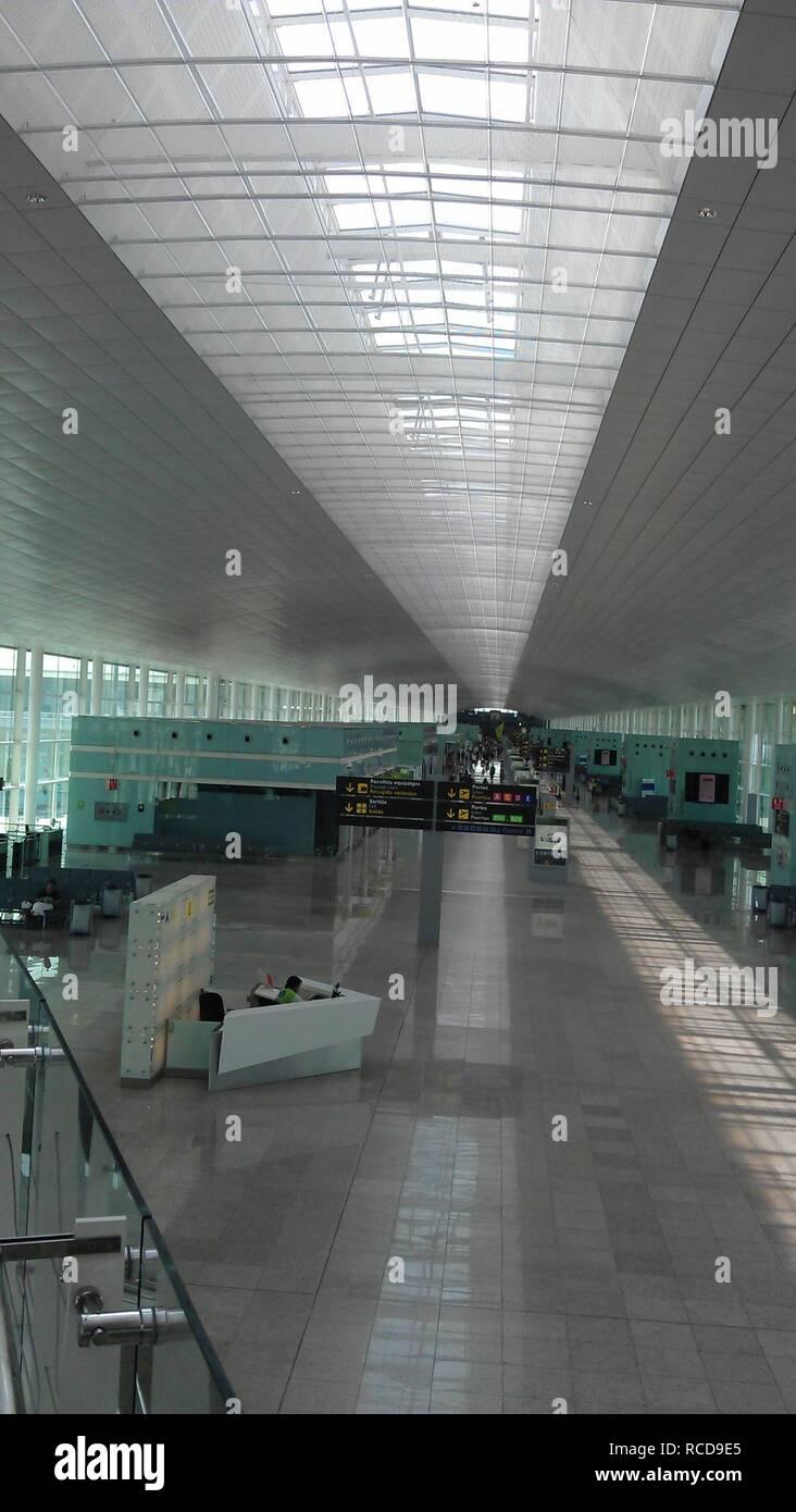 Airport Barcelona Terminal 1 004. - Stock Image
