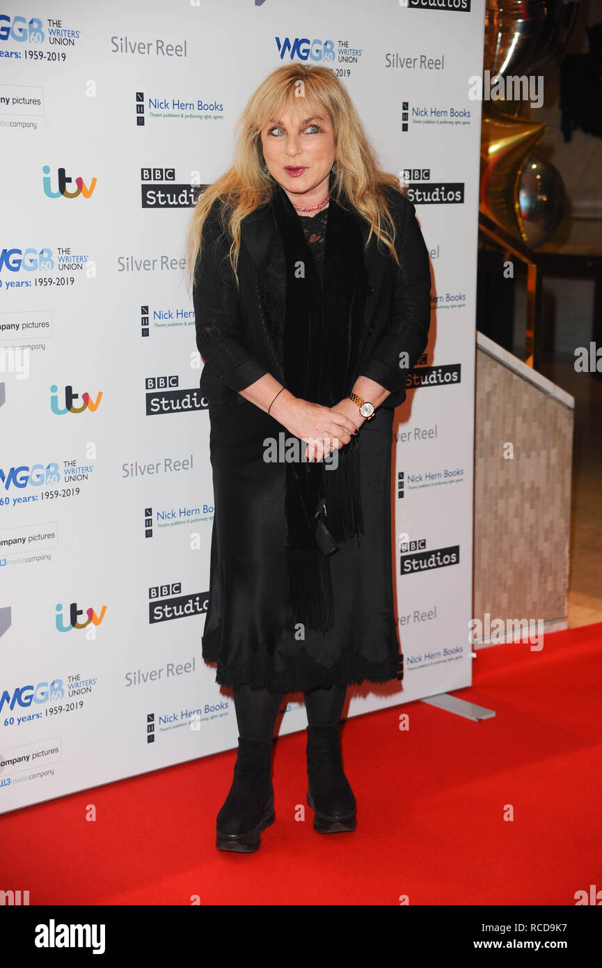 Helen Lederer, arrives for the The prestigious Writers' Guild Awards annual red-carpet ceremony  which will once again see some of the most acclaimed and respected writers from the Film, TV, Theatre, Videogames, Radio, Books and Comedy industries gather to celebrate the work, success and achievements of their peers and recognise their work in supporting freedom of speech. - Stock Image