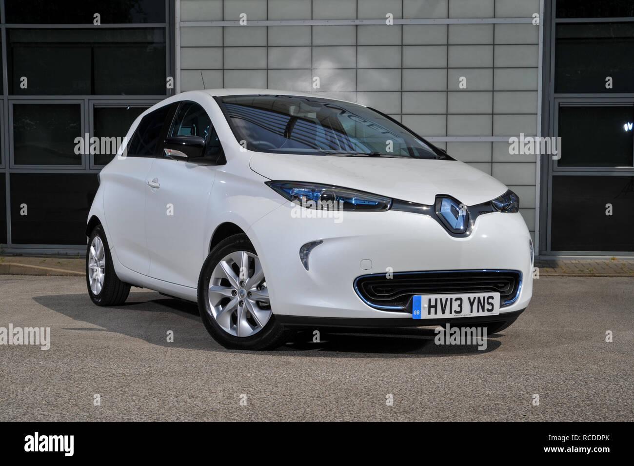 2013 Renault Zoe compact electric car (EV) Stock Photo
