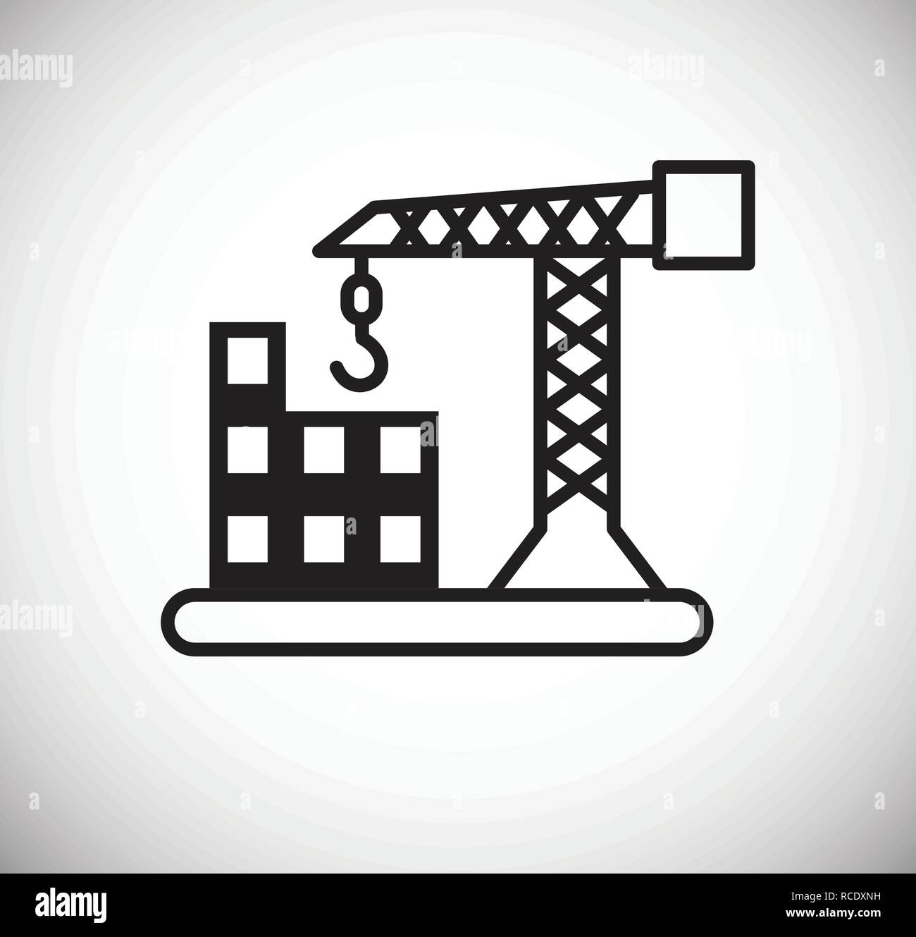 Construction icon on white background for graphic and web