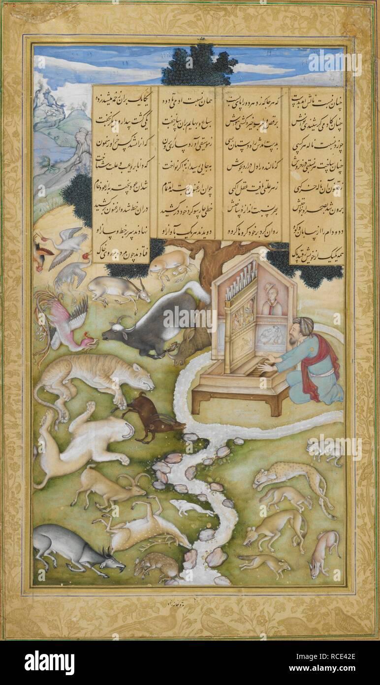 Plato charming the wild animals by his music  Khamsa  ('Five