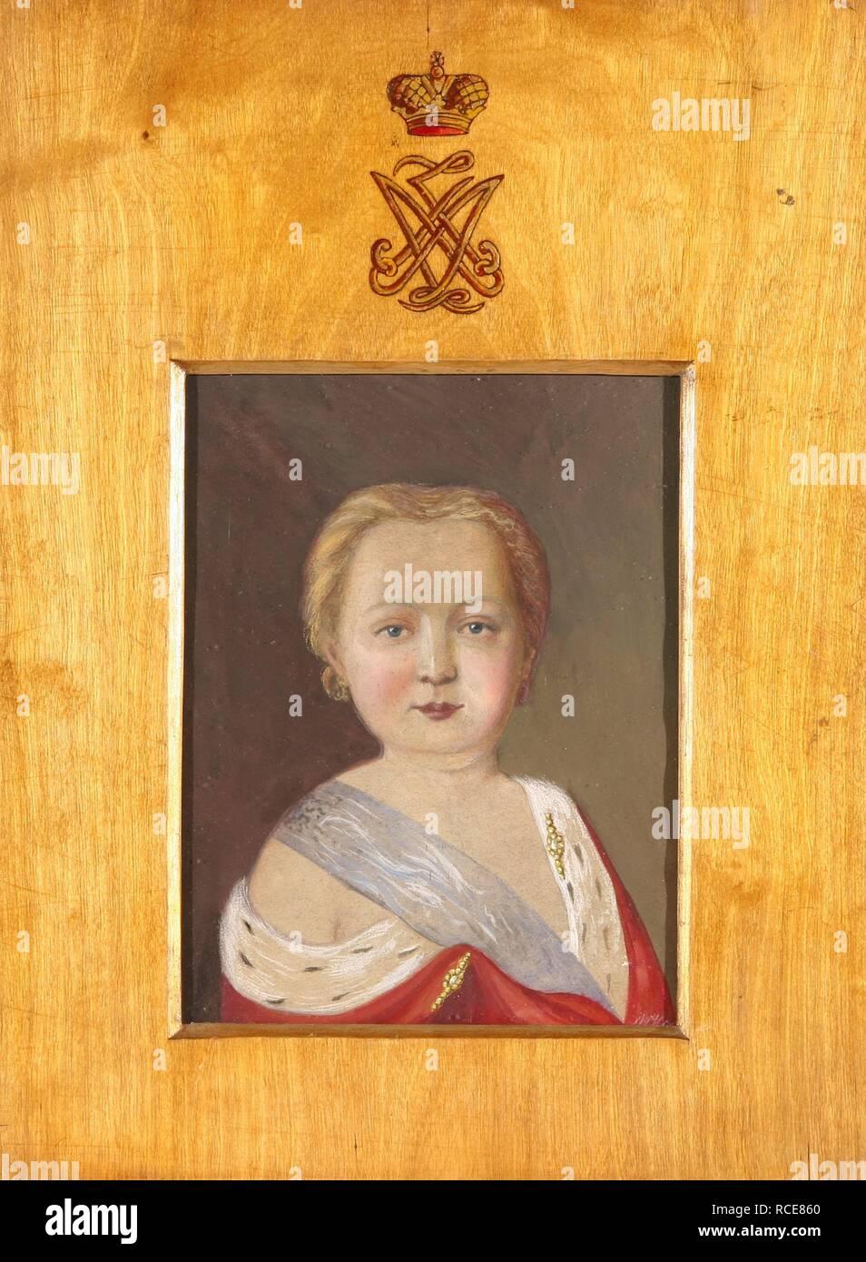 Portrait of Alexander I as a Child. Museum: PRIVATE COLLECTION. Author: Hau (Gau), Vladimir Ivanovich. Stock Photo
