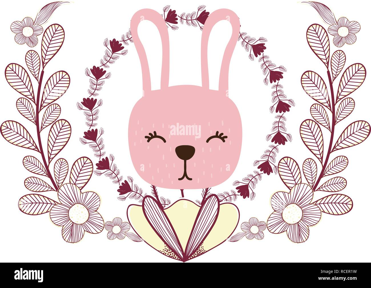 rabbit only face - Stock Vector