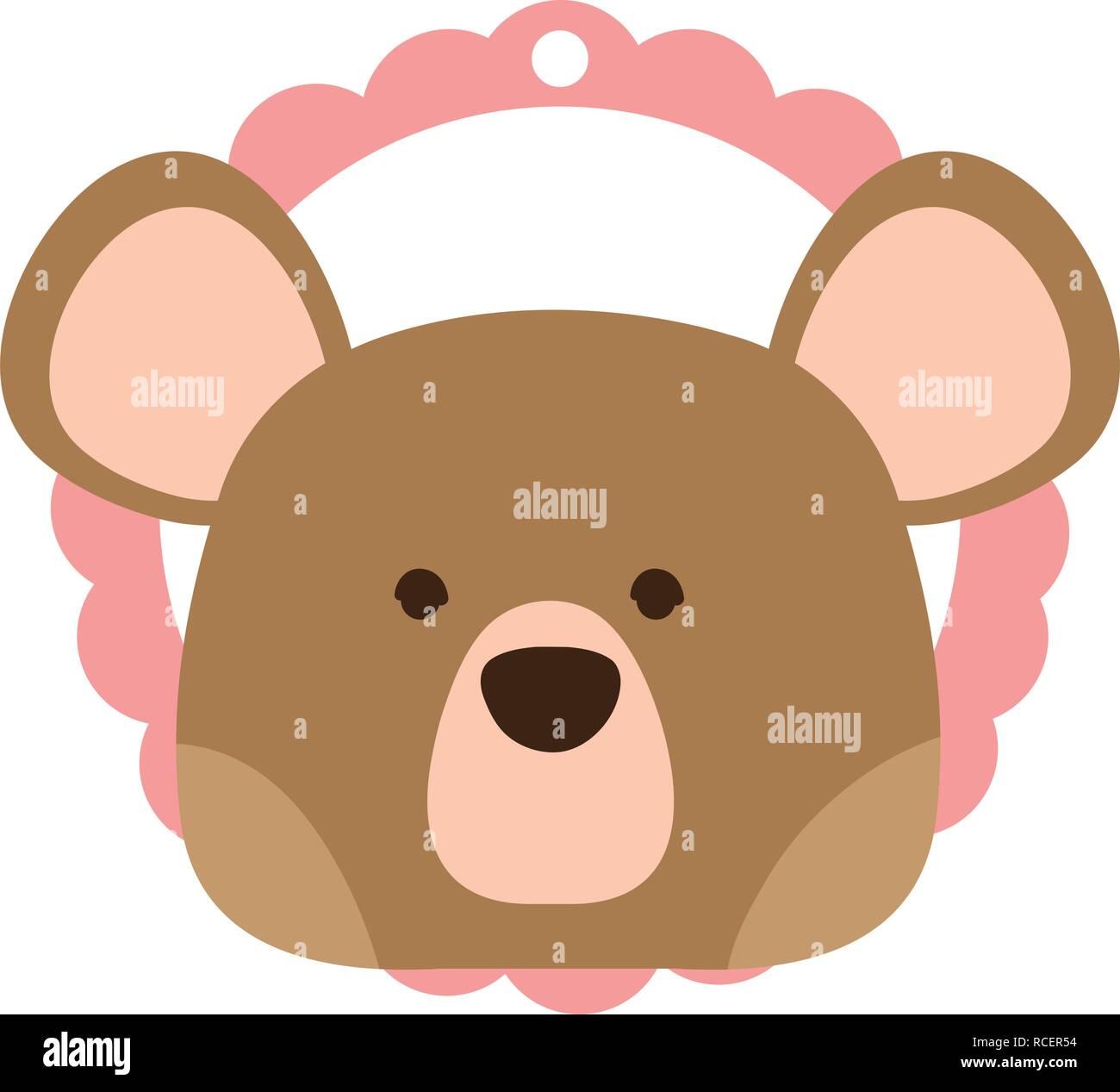 bear only face - Stock Vector