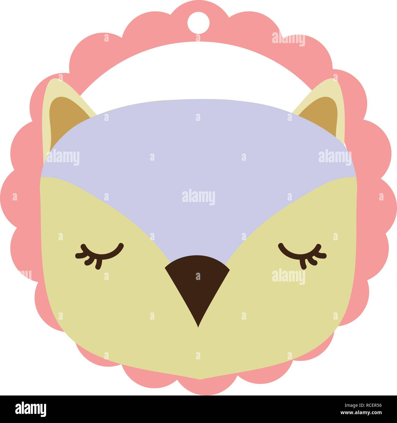 owl only face - Stock Vector