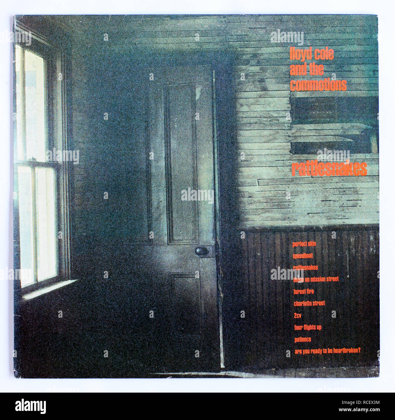 The cover of Rattlesnakes by Lloyd Cole and the Commotions. 1984 album on Polydor Records - Stock Image
