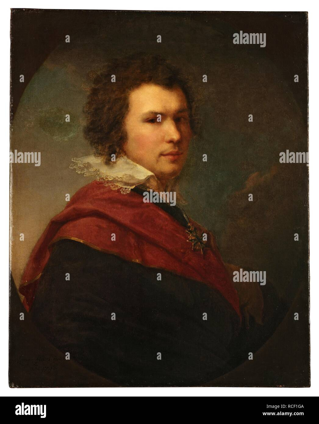 Portrait of the poet Apollon Alexandrovich Maykov (1761-1838). Museum: State Tretyakov Gallery, Moscow. Author: Lampi, Johann-Baptist, the Younger. - Stock Image