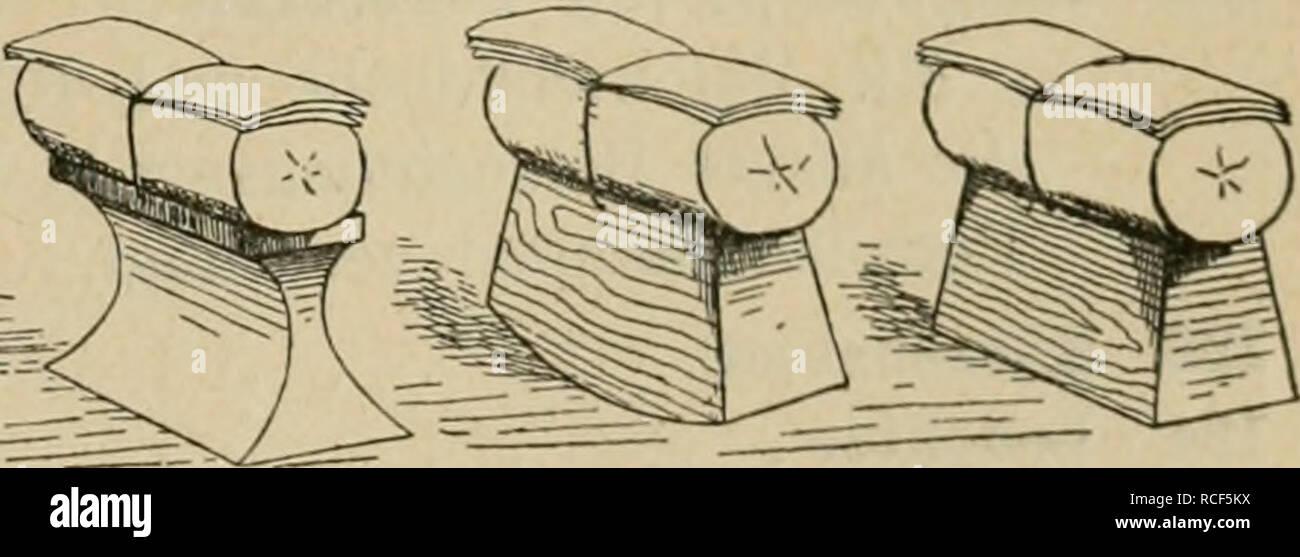 """. Die Verwendung des Bambus in Japan und Katalog der Spörry'schen Bambus-Sammlung. 55 85 Lesepult kendai. (Siehe Anmerkung sub Nr. 138/139.) 86 Stuhl koshi-kake. Für den Hof oder Garten, um Pflanzen und Blumen zu betrachten. 87 — 2 Thee-Utensilienständer cha-dansu. 88 89 Thee-Utensilienkästchen cha-dansu. Türgriff """"hiki-dashi"""", einen Regendrachen """"ama-ryo"""" darstellend. Geflechtart """" ajiro """" von der Insel """"Hachijo"""", wo früher eine Straf- kolonie war, in welcher Bambusgeflechte hergestellt und nach Yedo verschickt wurden. Diese Strafkolonie ist längst aufgehoben. Der Bambusre - Stock Image"""