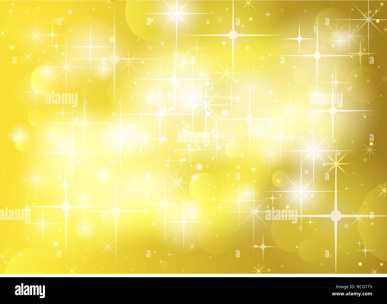 Stars and Sparklers Background - Stock Vector