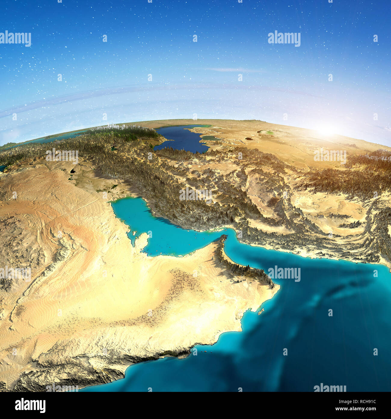 Middle East map - Stock Image