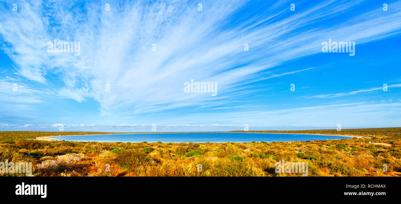 Shark Bay, Western Australia. Little Lagoon on a sunny afternoon - Stock Image
