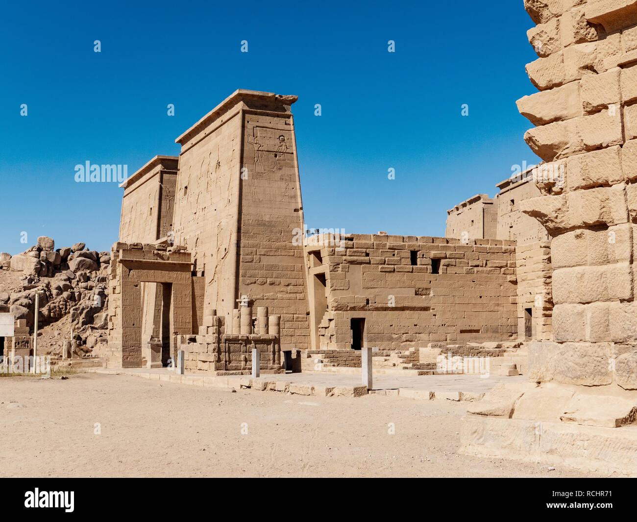 The Ancient Temple Of Philae Near Aswan In Egypt One Of The Most Important Tourist Attractions In Egypt Stock Photo Alamy