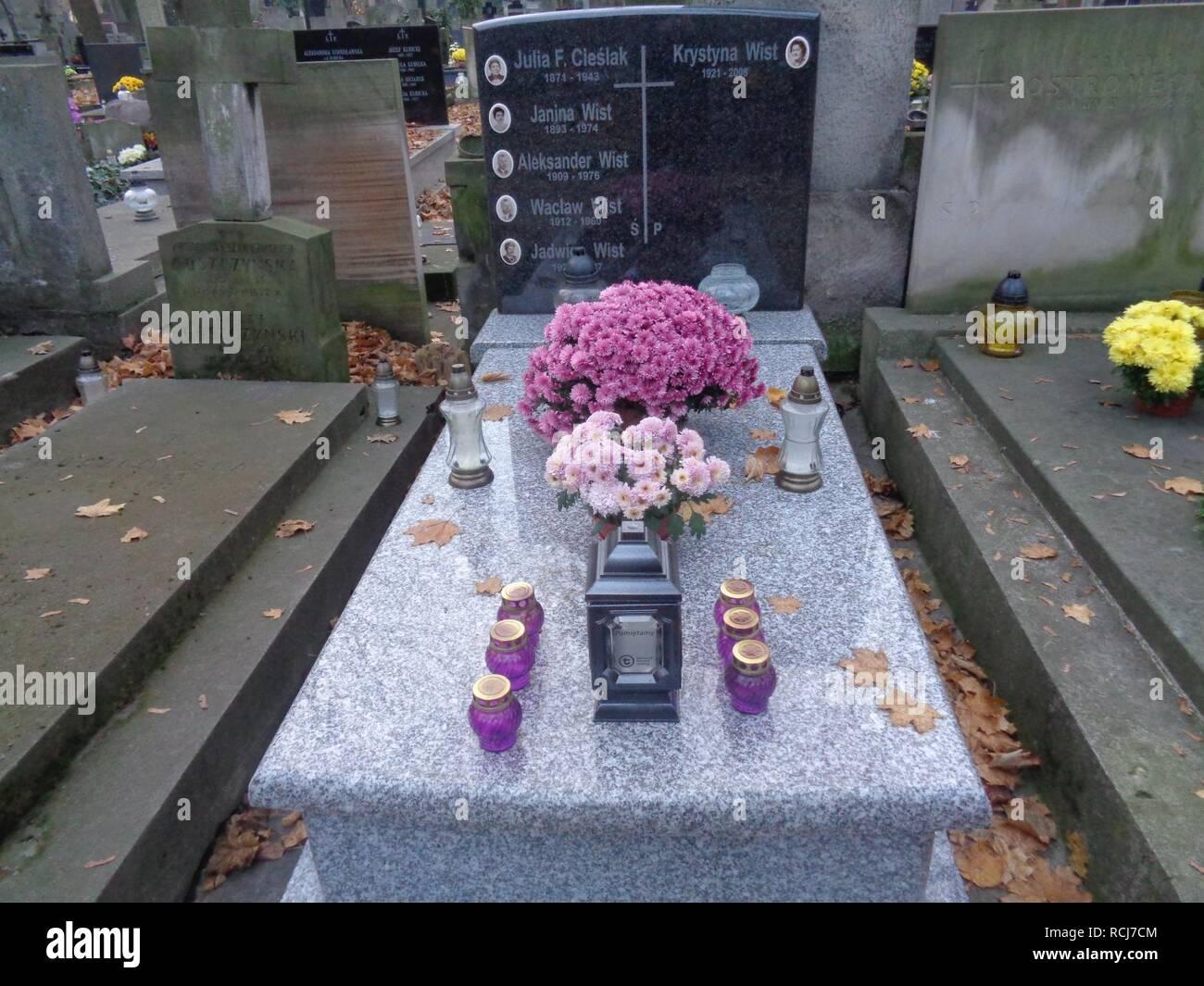 Aleksander Wist grób. - Stock Image