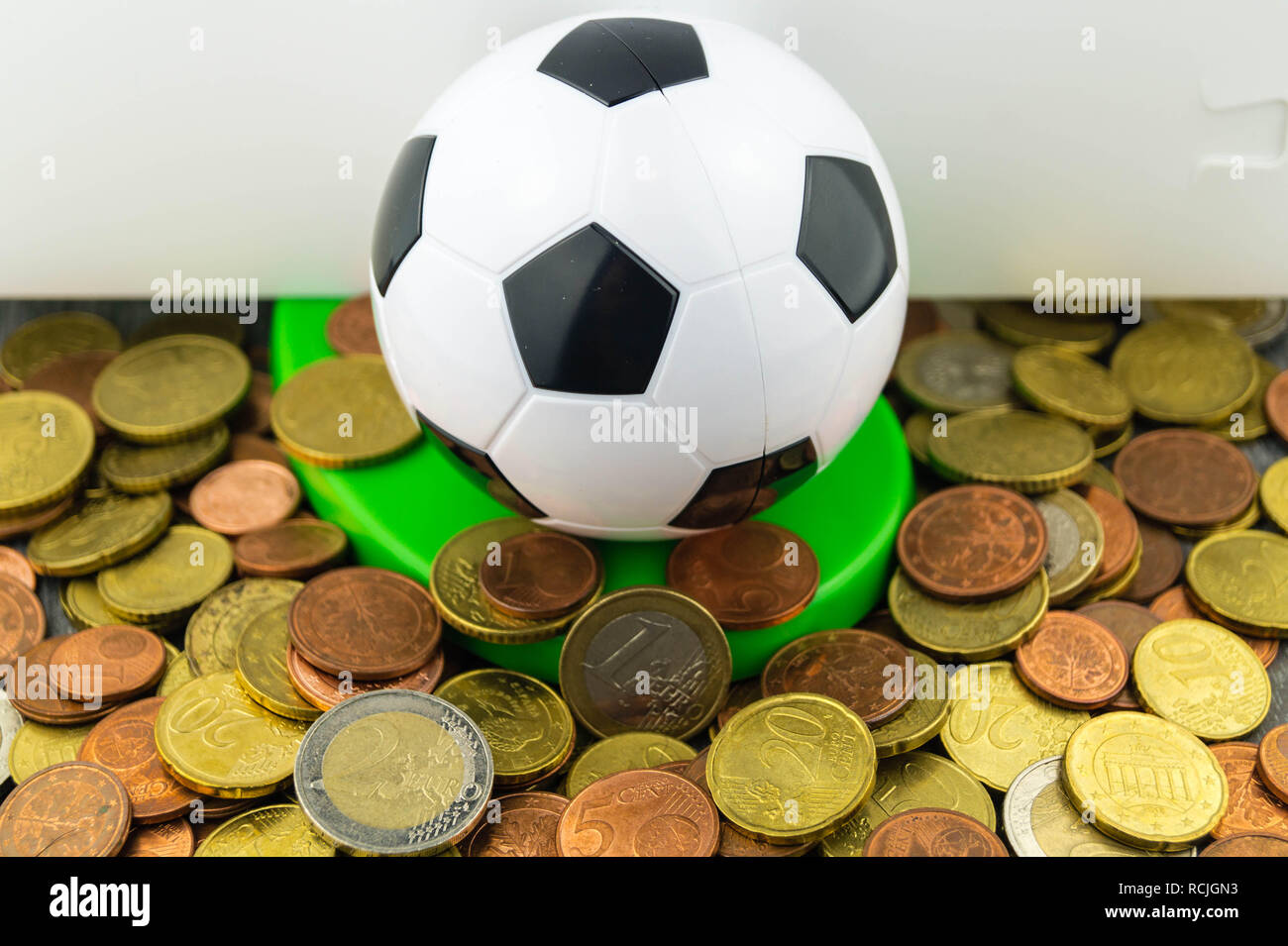 The Soccer Players changes the club for much money - Stock Image