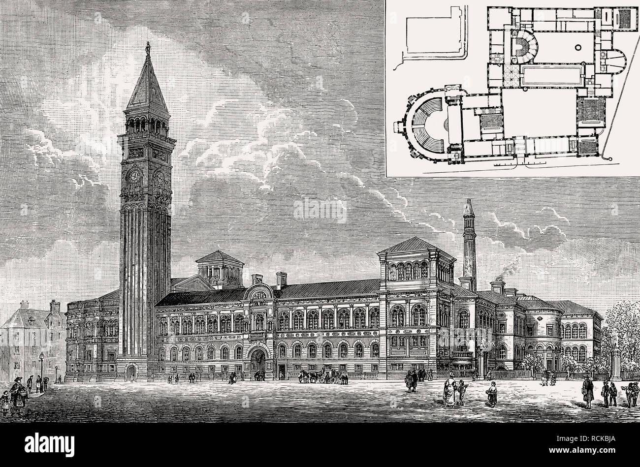 Model of  the Edinburgh Medical School, Scotland, 19th century - Stock Image